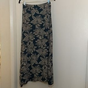 Blue paisley maxi skirt from Modcloth XS
